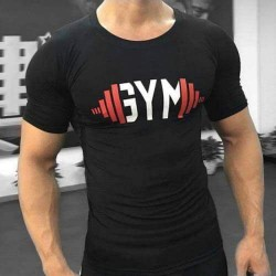 Bodybuilding Gym T shirt Black