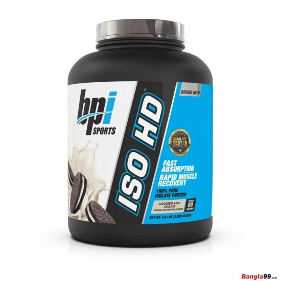 BPI Sports ISO HD Whey Protein Isolate 5lbs