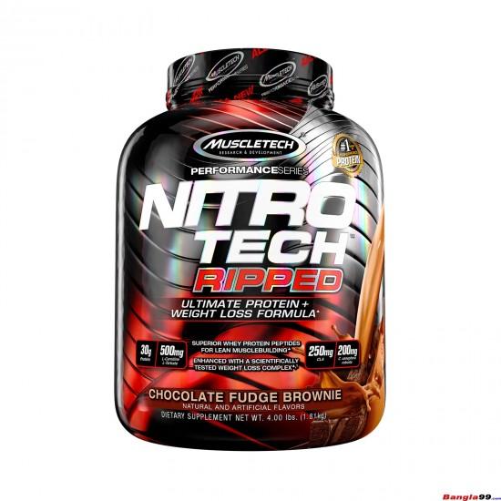 Nitro Tech Ripped By MuscleTech 4lbs