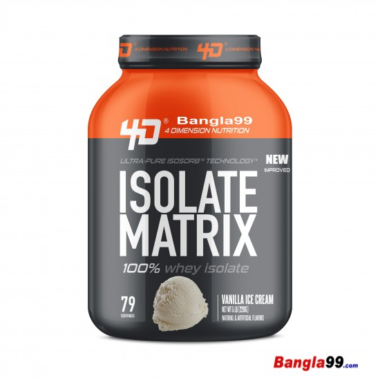 Whey isolate Matrix By D4 Nutrition 5lbs
